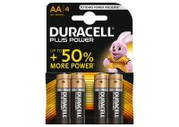 Duracell, Batterien, PLUS POWER AA, Alcaline, Long Lasting, 4 Stk.