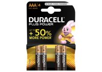 Duracell, Batterien, PLUS POWER AAA, Alcaline, Long Lasting, 4 Stk.